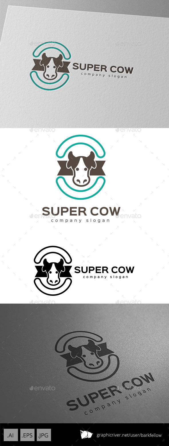 GraphicRiver Super Cow Milk Logo Design 9929128