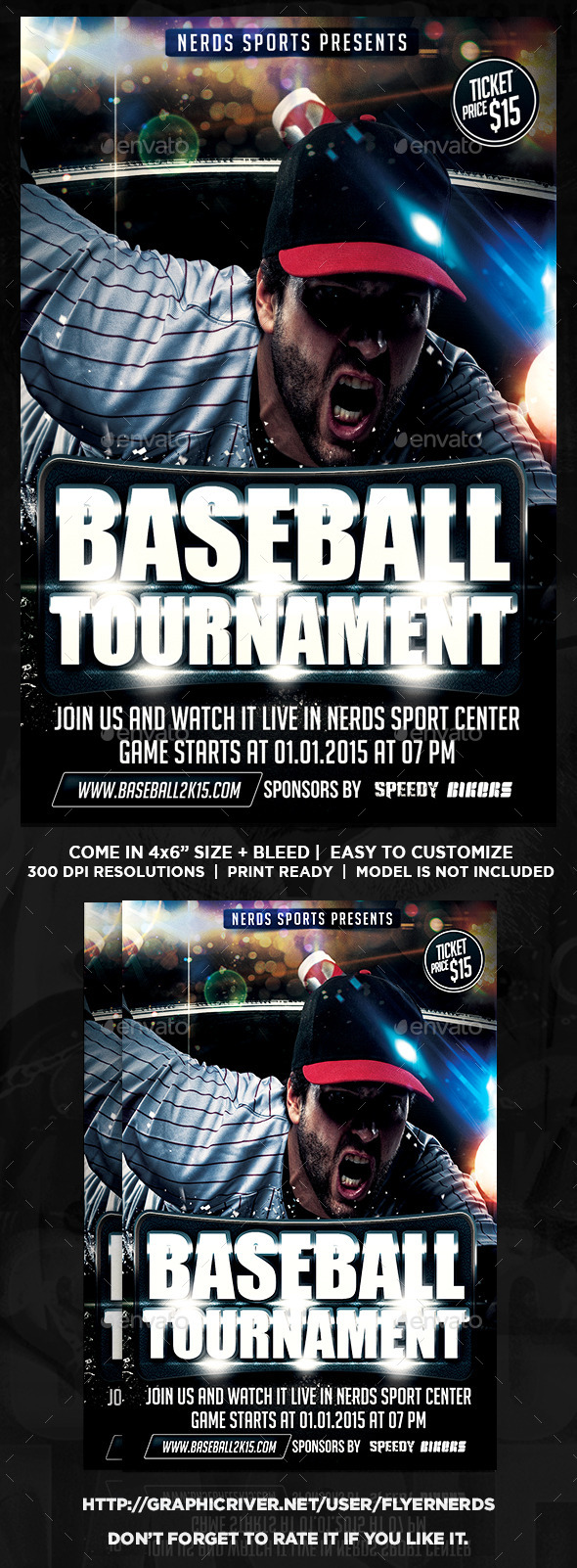 GraphicRiver Baseball Championships Sports Flyer 9929224