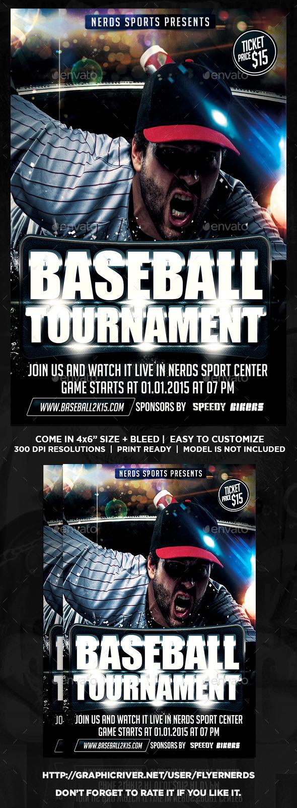 Baseball Championships Sports Flyer