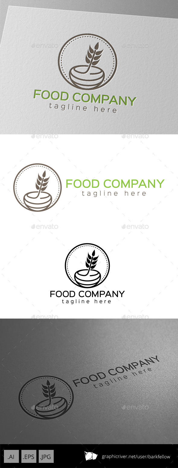 GraphicRiver Food Honey Company Logo 9929225