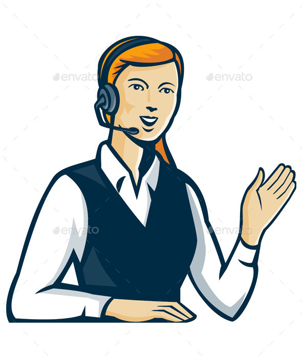 GraphicRiver Telemarketer Call Center Operator 9929264