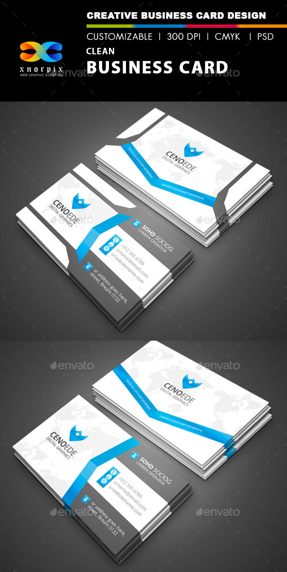 GraphicRiver Clean Business Card 9929266