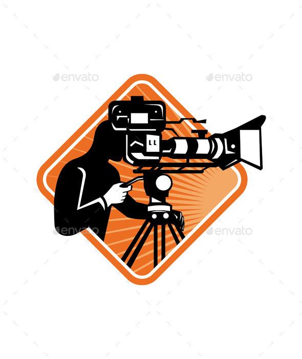 GraphicRiver Cameraman Filming 9929279