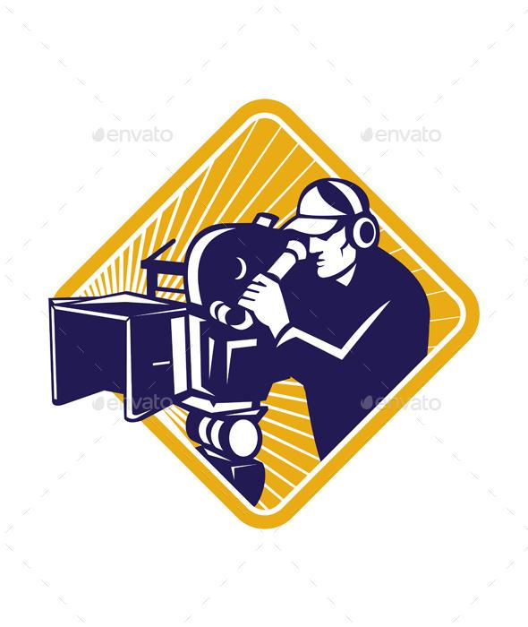 GraphicRiver Cameraman Filming 9929283