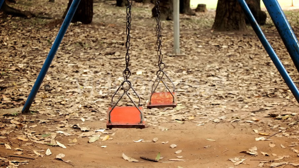 Lonely Swing In The Park