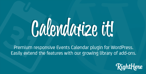Calendarize it for WordPress