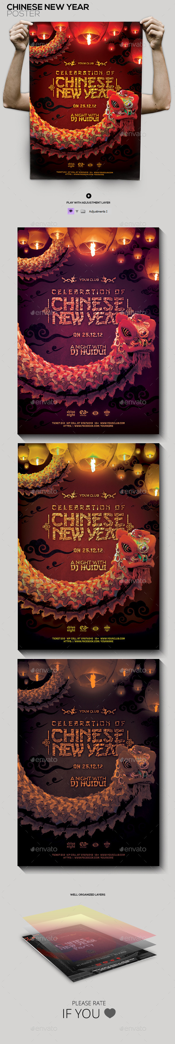 GraphicRiver Chinese New Year Celebration Flyer Poster 9929614