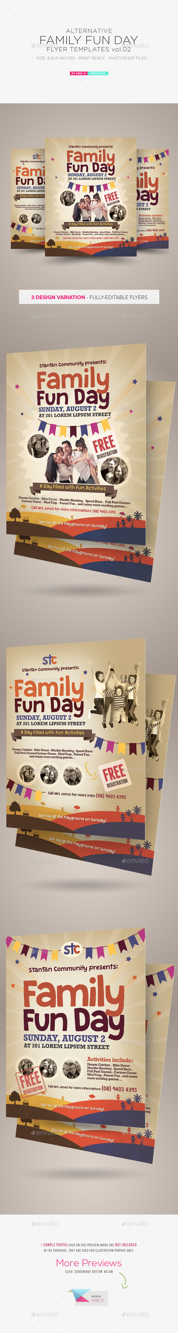 GraphicRiver Alternative Family Fun Day Flyers vol.02 9929658