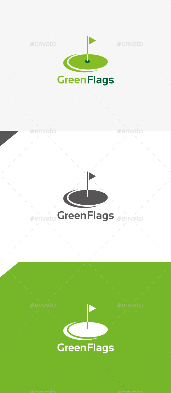 GraphicRiver Green Flags 9929666