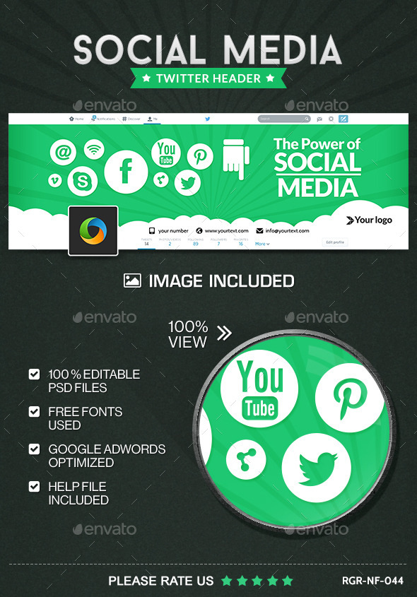 GraphicRiver Social Meda Marketing Twitter Header 9929677