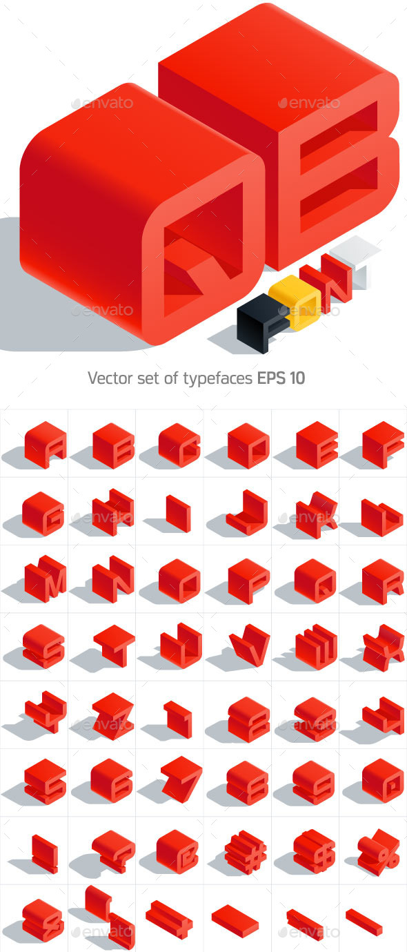 GraphicRiver Isometric Alphabet 9929733