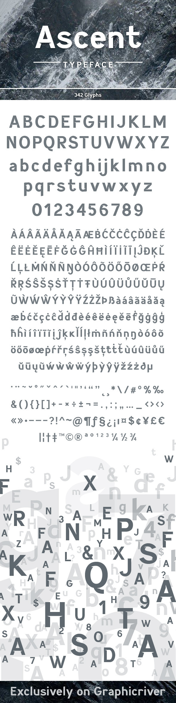 GraphicRiver Ascent Typeface 9929760