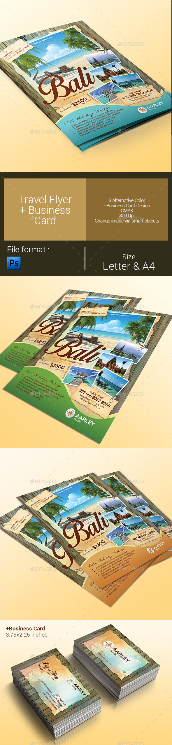 GraphicRiver Travel Flyer & Business Card 9929864