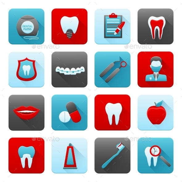 GraphicRiver Dental Icons Set 9930059