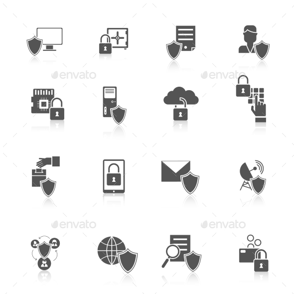 GraphicRiver Information Security Icon 9930145