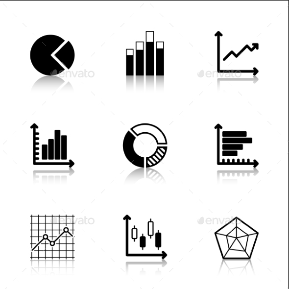 GraphicRiver Diagram Icons Set with Reflection 9930272