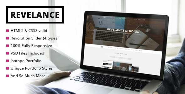 ThemeForest Revelance Multi One-Page Parallax HTML Template 9818734
