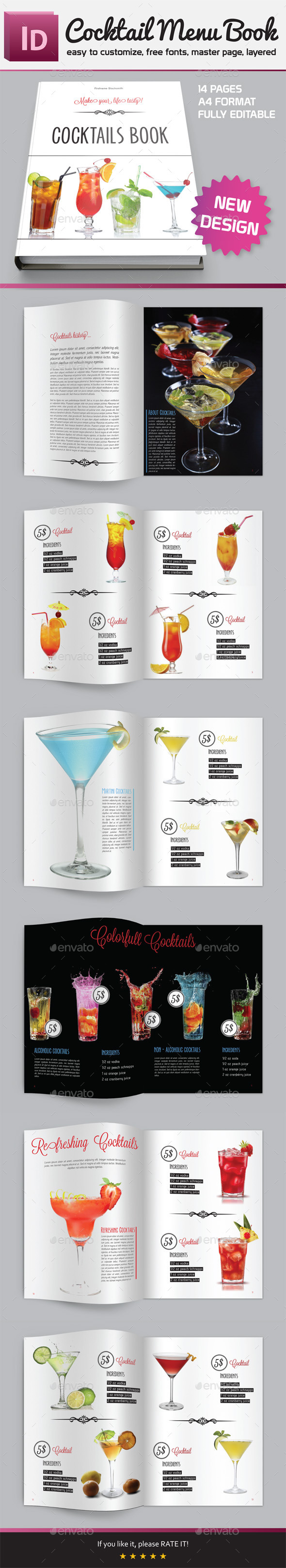 GraphicRiver Cocktail Menu Book 9930398