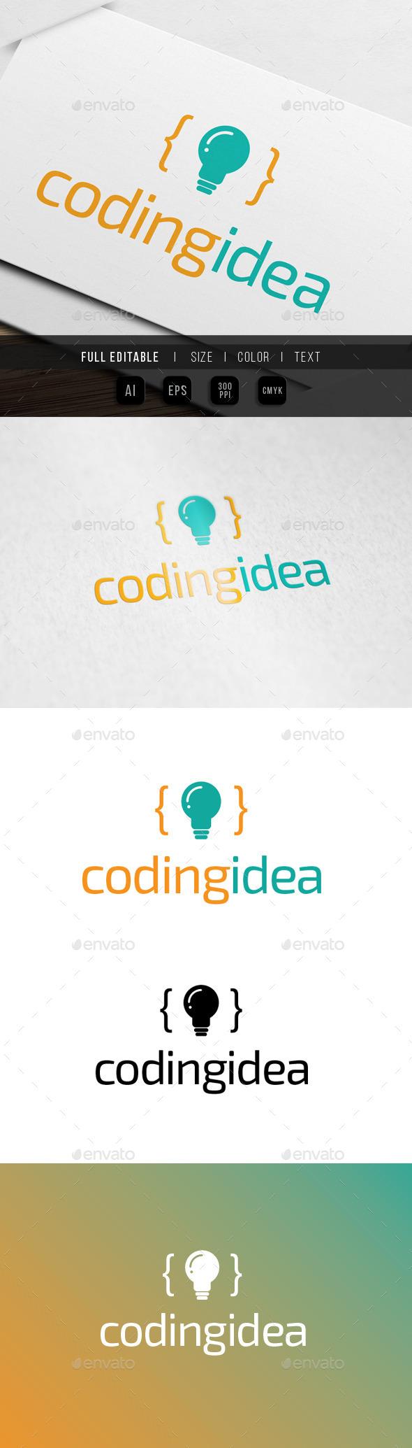 GraphicRiver Coding Idea logo 9930412