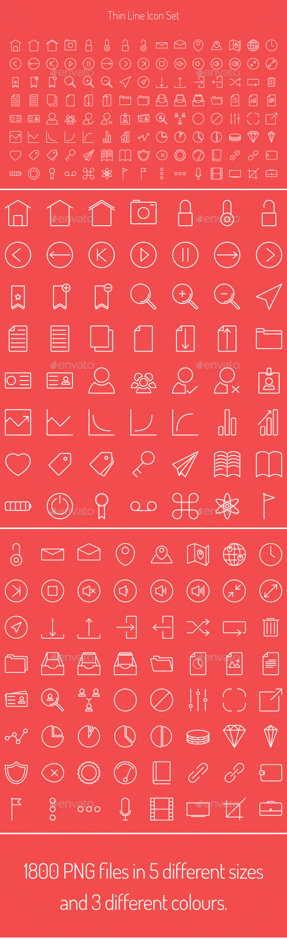 GraphicRiver Expandable Thin Line Icon Set 9913873
