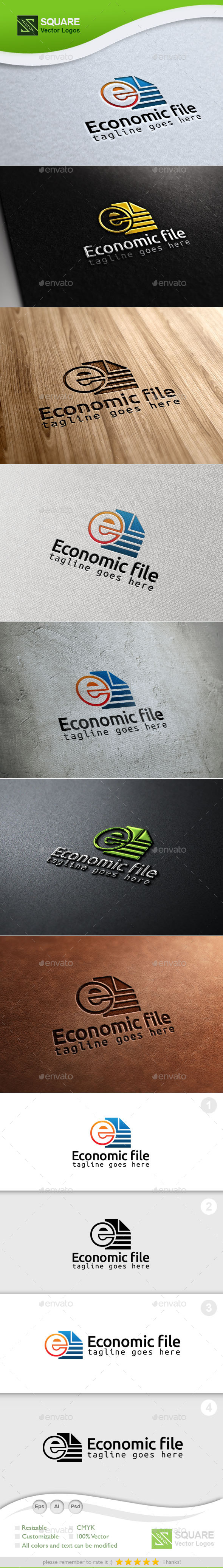 GraphicRiver Economic Files Custom Logo Template 9930450