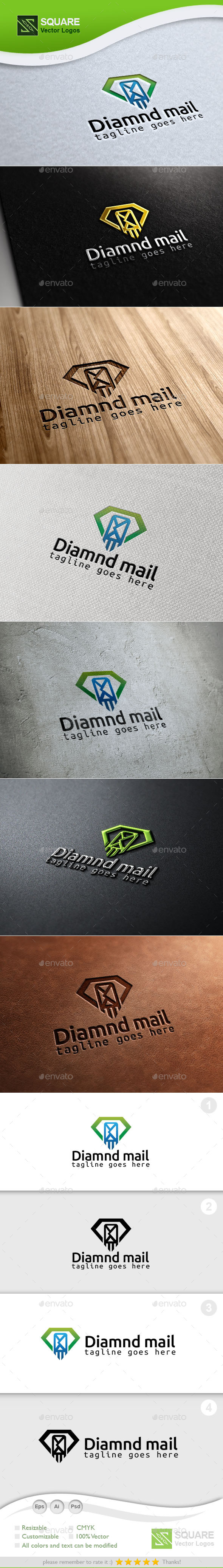 GraphicRiver Diamond Mail Custom Logo Template 9930472