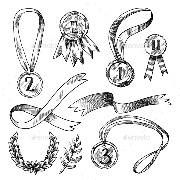 GraphicRiver Award Decorative Icons Set 9930487