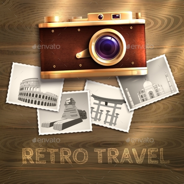 GraphicRiver Retro Camera Background 9930511
