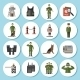 Border Guard Icon Flat - GraphicRiver Item for Sale