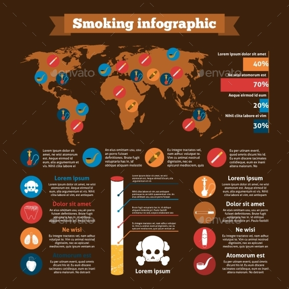 GraphicRiver Smoking Infographics Set 9930535