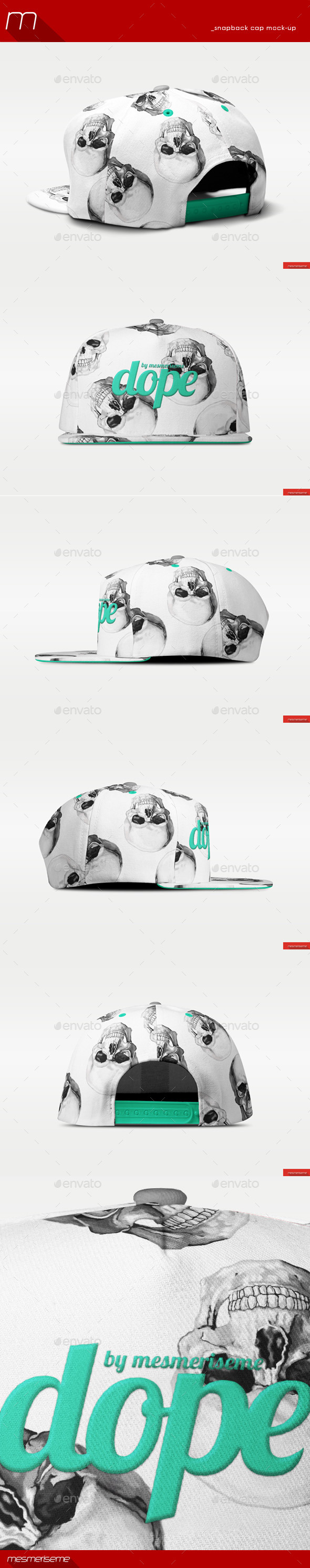 GraphicRiver Snapback Cap Mock-up 9910178