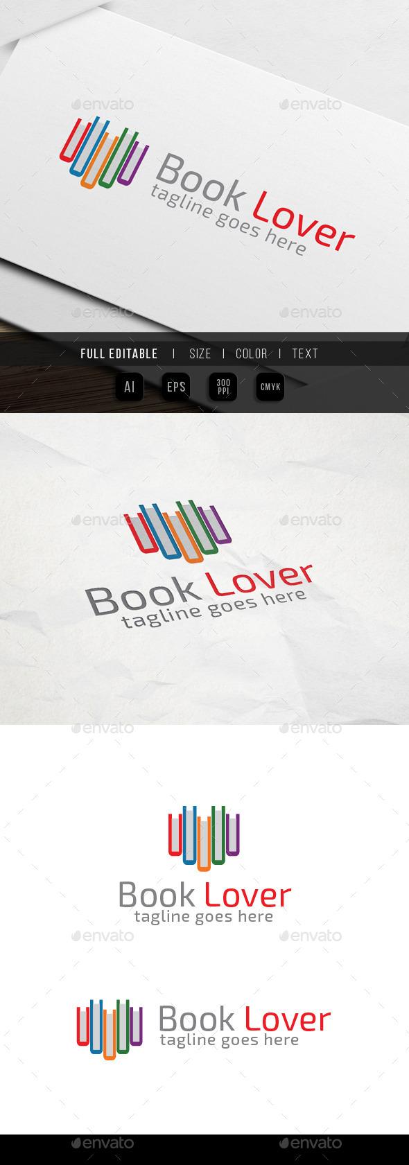 GraphicRiver Book Lover Logo 9930815