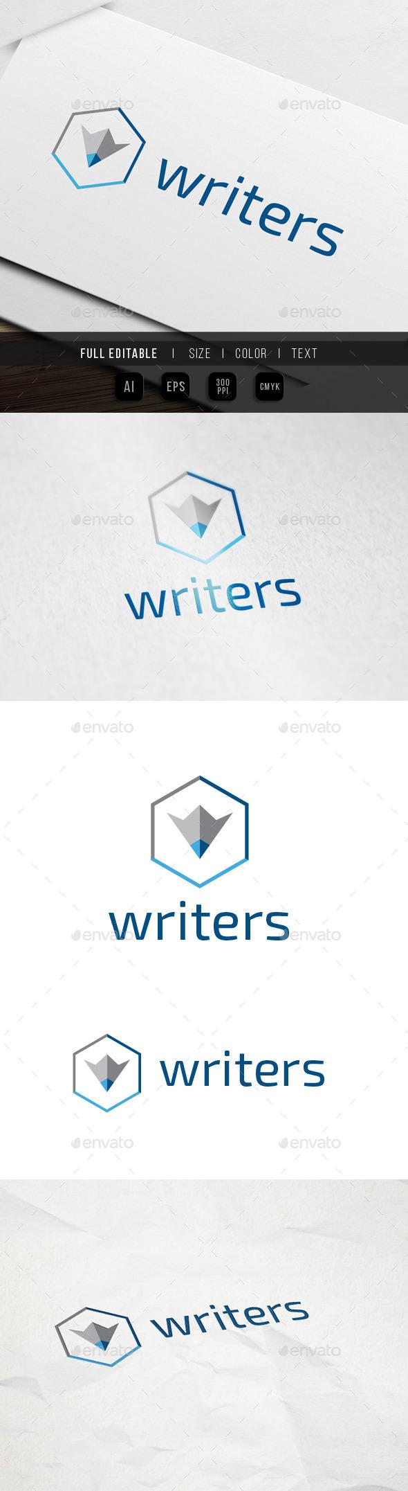GraphicRiver Hexa Content Writer Logo 9931499