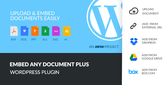 CodeCanyon Embed Any Document Plus WordPress Plugin 9911763