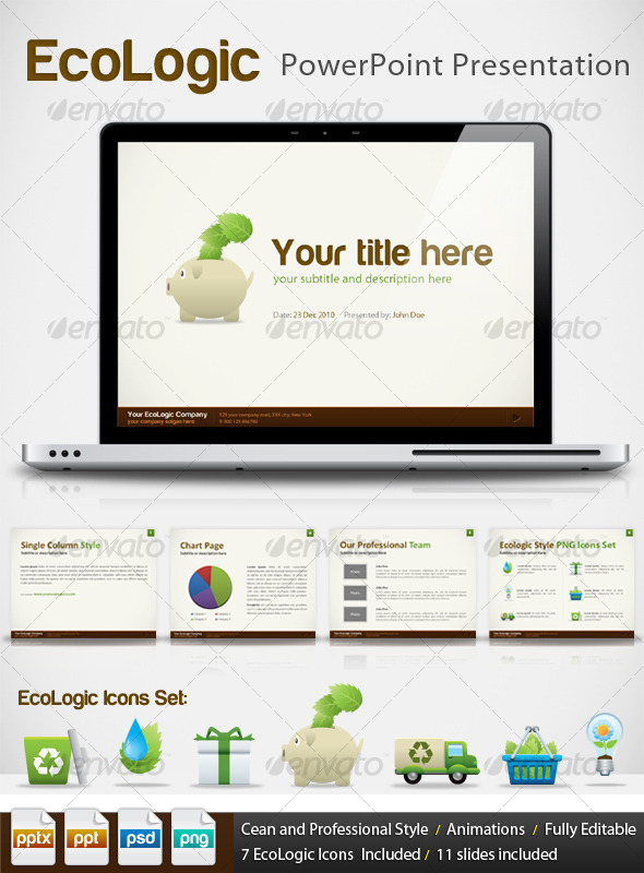 EcoLogic PPT -Professional PowerPoint Presentation - Creative Powerpoint Templates