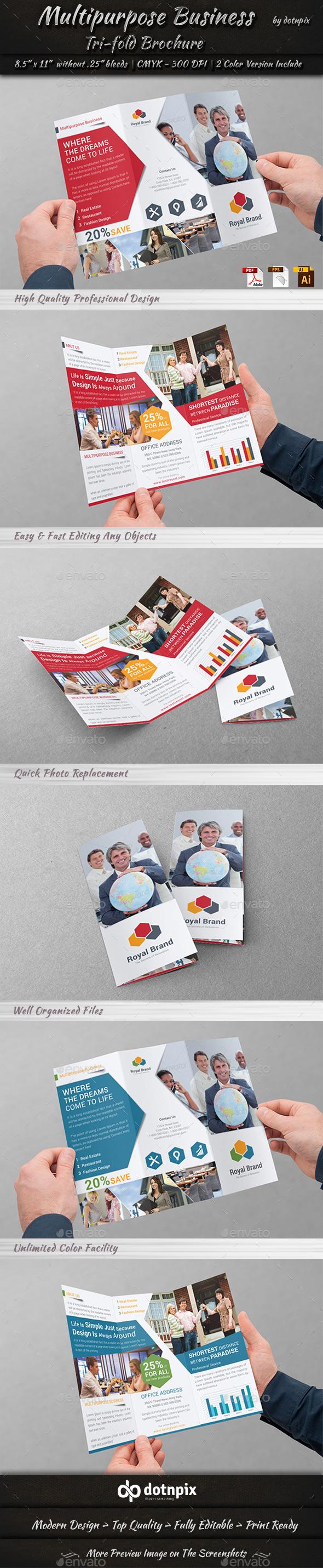 GraphicRiver Multipurpose Business Tri-Fold 9916438
