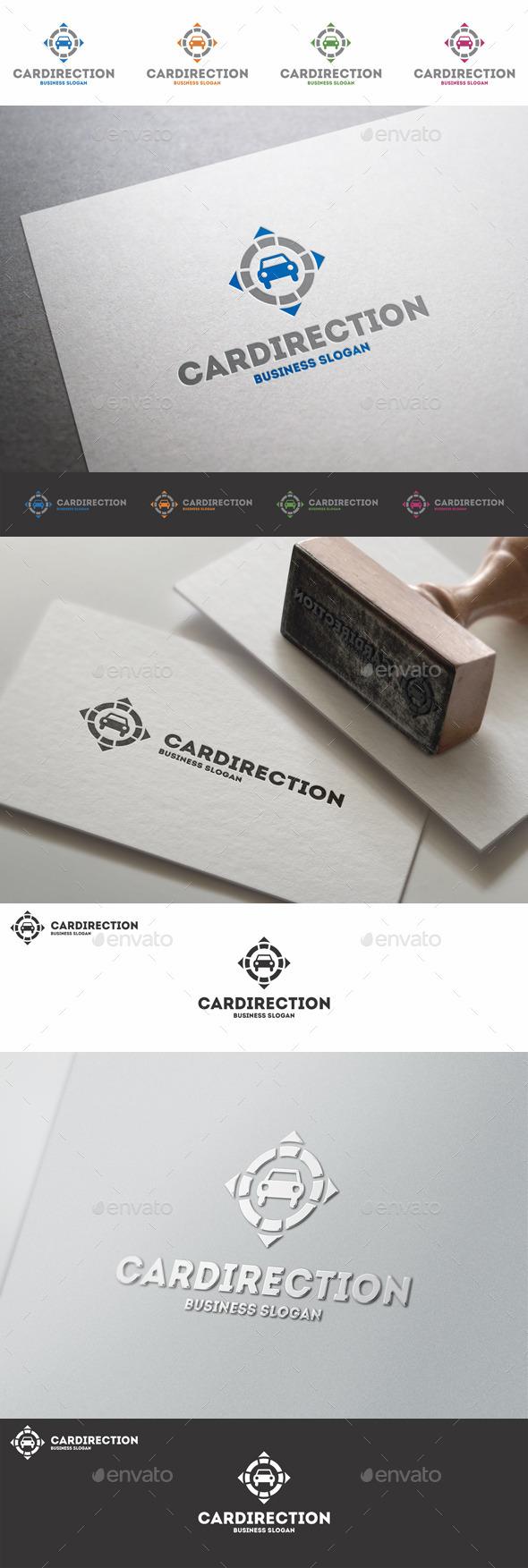 GraphicRiver Car Direction Auto Ways Logo 9932798