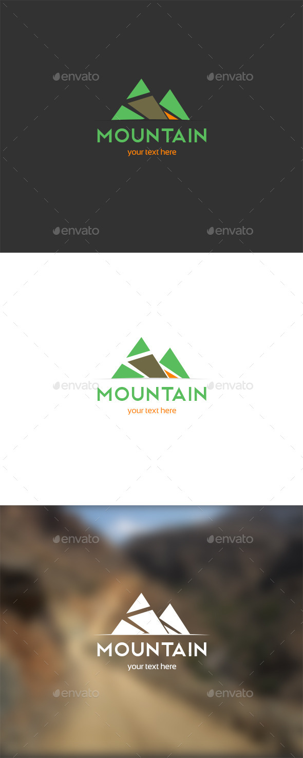 GraphicRiver Mountain Trial Logo 9932808