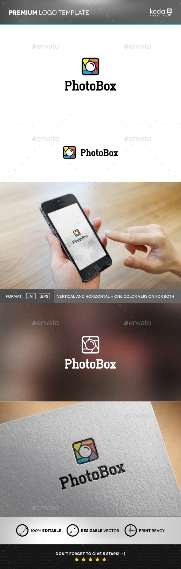 GraphicRiver Photobox Logo Template 9930549