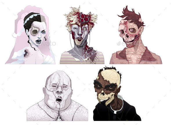 GraphicRiver Zombie Portraits 9934386