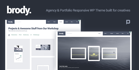 ThemeForest Brody Agency & Portfolio WordPress Theme 9812269
