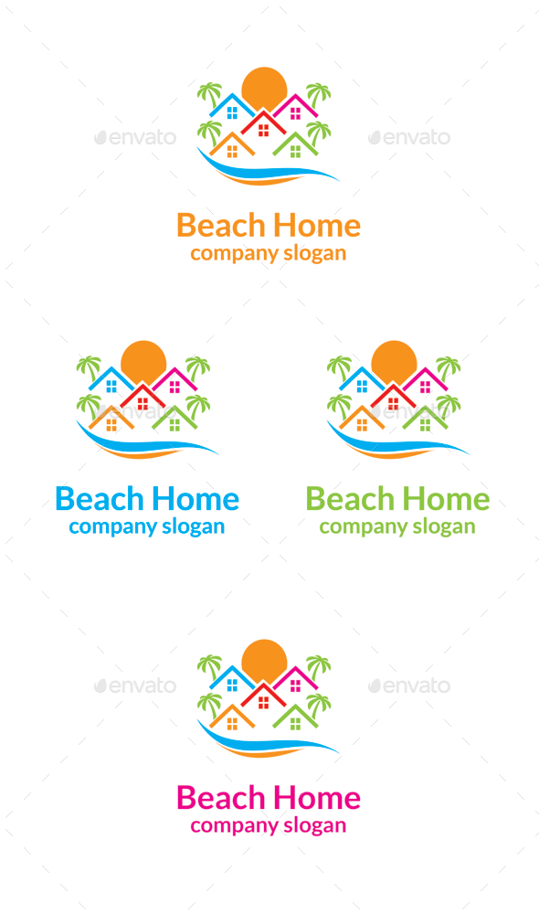GraphicRiver Beach Home Logo 9934734