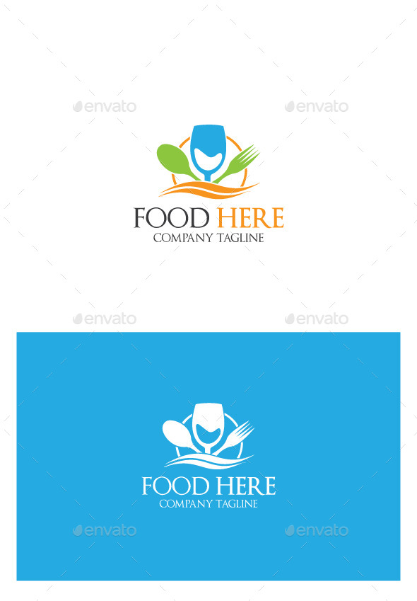 GraphicRiver Food Here Logo 9935003