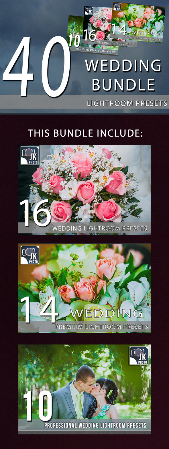 GraphicRiver 40 Wedding LightRoom Presets Bundle 9838730