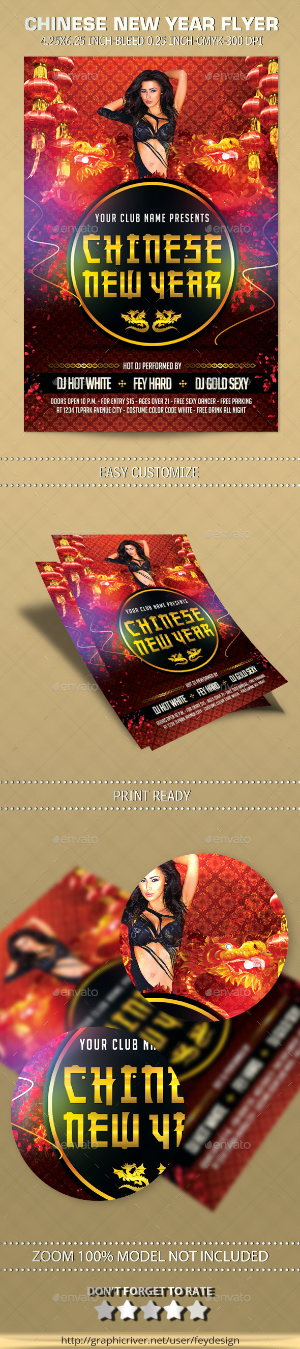 GraphicRiver Chinese New Year Flyer 9935104