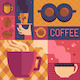 Coffee Poster Template in Flat Retro Style - GraphicRiver Item for Sale