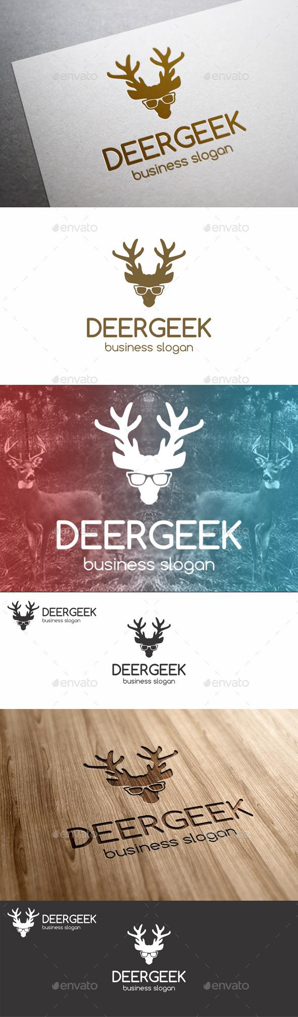 GraphicRiver Deer Geek Animal Logo 9935128