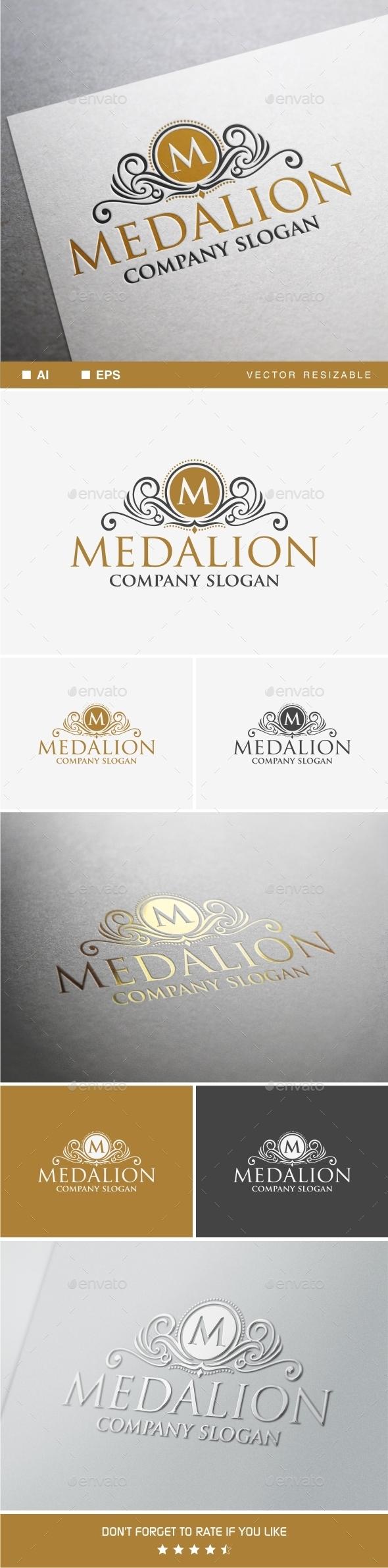 GraphicRiver Medallion Logo Template 9935219