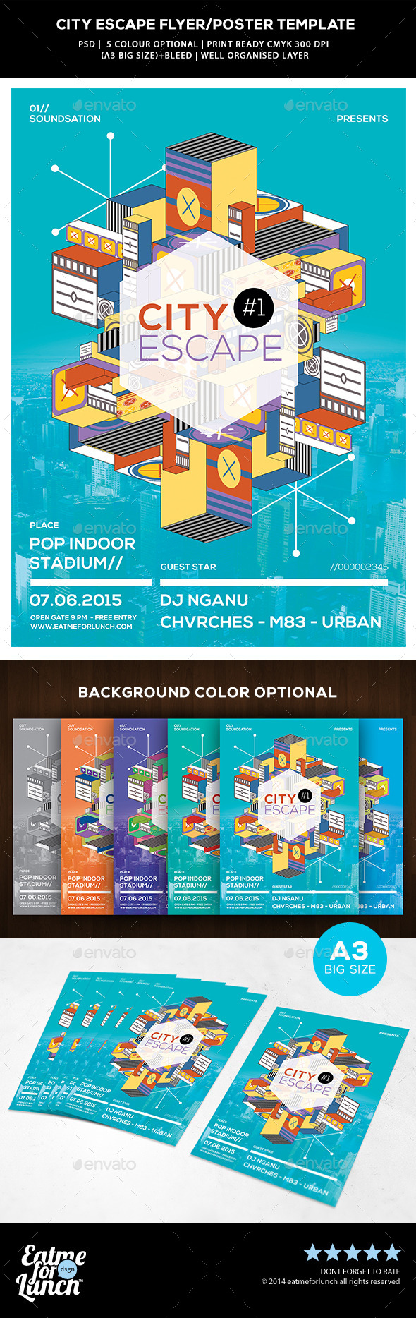 GraphicRiver Abstract Flyer Poster Templates City Escape 9935267
