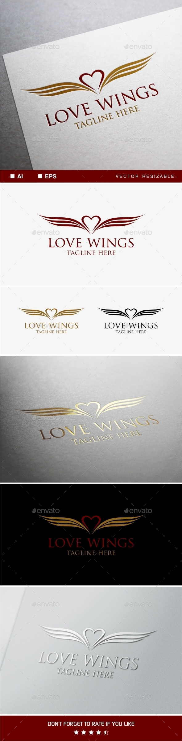 GraphicRiver Love Wings Logo Template 9935343